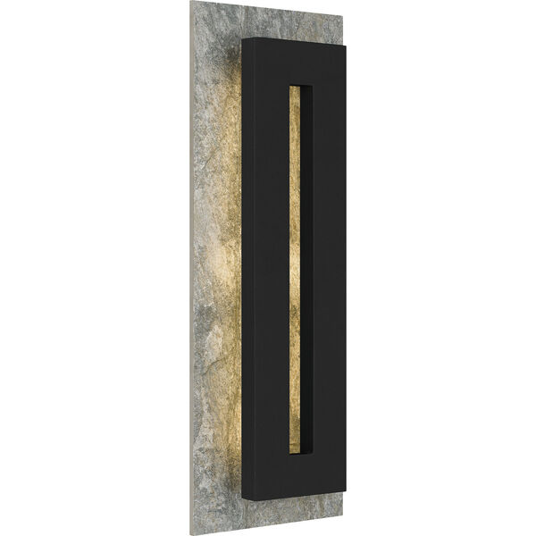 Tate Earth Black 22-Inch LED Outdoor Wall Mount, image 1