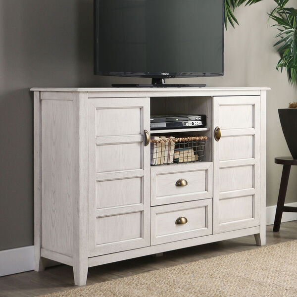 Angelo HOME 52-Inch Rustic Chic TV Console - White Wash, image 2