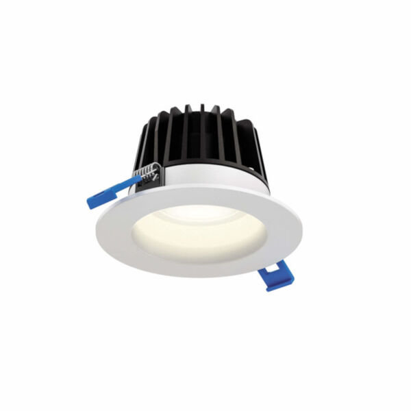 White Six-Inch Round Indoor Outdoor Regressed Gimbal Down Light, image 1