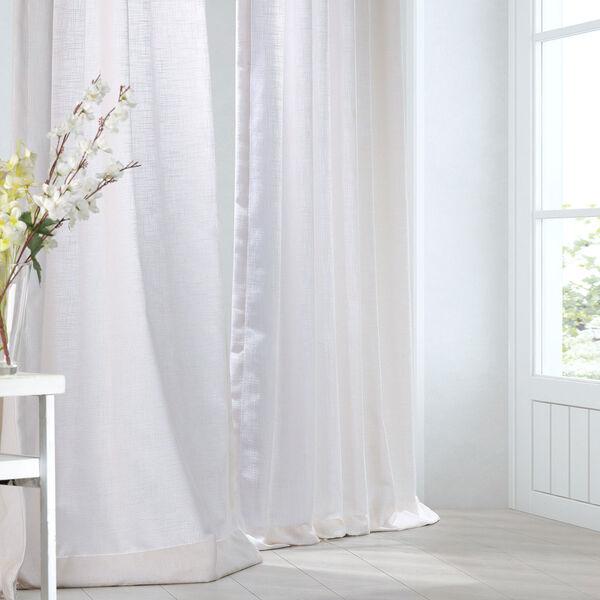 Rice White 120 x 50-Inch Curtain Single Panel, image 1