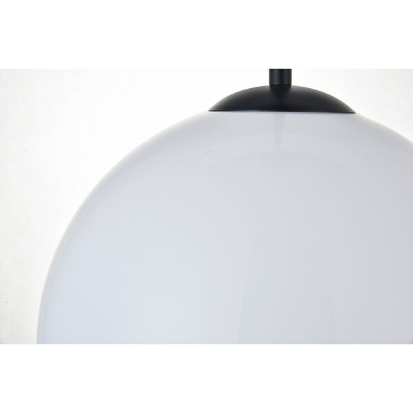 Baxter Black and Frosted White 11-Inch One-Light Pendant, image 6