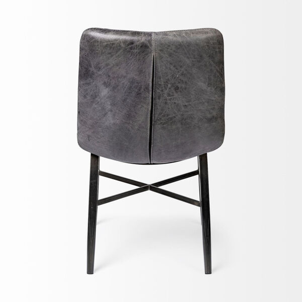Horsdal Black Leather Seat Dining Chair, image 5