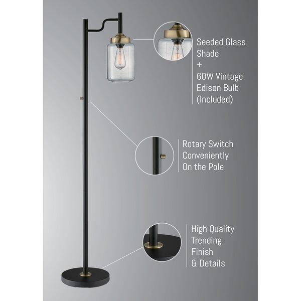Luken Black One-Light Floor Lamp, image 4