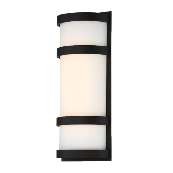 Latitude Black 14-Inch 3000K LED Outdoor Wall Sconce, image 1
