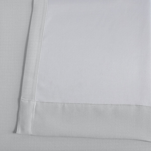 White Oyster 84 x 50 In. Faux Linen Blackout Curtain Single Panel, image 6