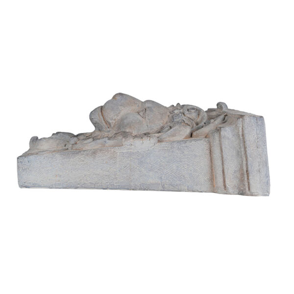 Gray 22-Inch Lions Head Outdoor Wall Decor, image 3
