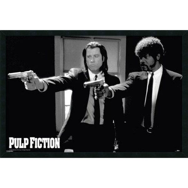Pulp Fiction - Duo Guns: 37.4 x 25.4 Print Framed with Gel Coated Finish, image 1