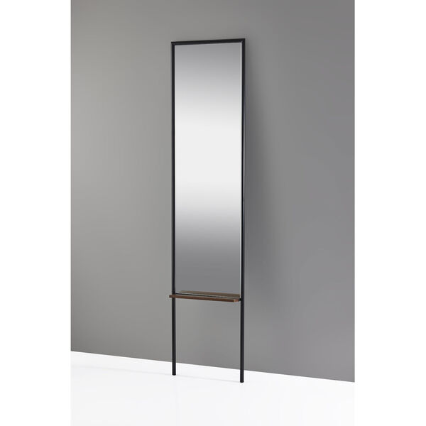 Monty Black and Walnut Leaning Mirror, image 2