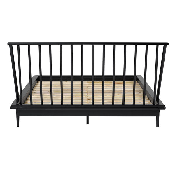 Black Wood Queen Spindle Bed, image 5