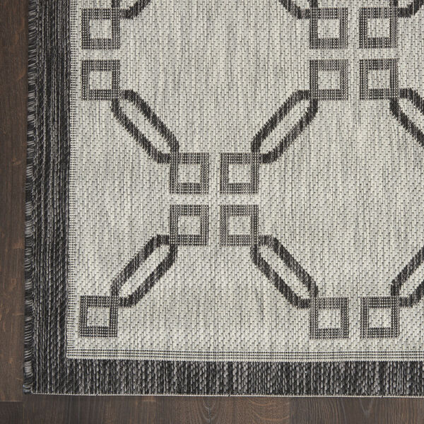 Garden Party Charcoal and Ivory Indoor/Outdoor Area Rug, image 4