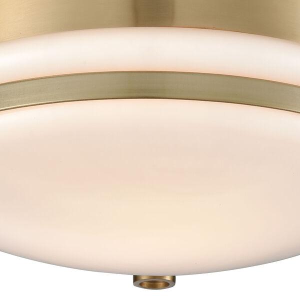 Riley Satin Brass One-Light Flush Mount, image 3