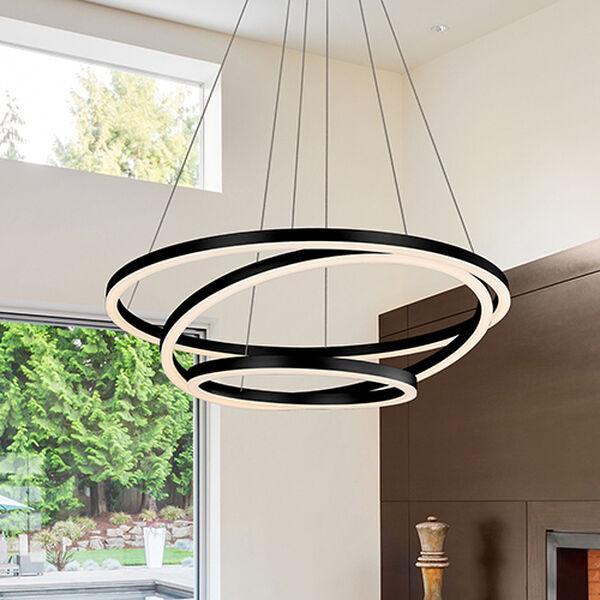 Tania Trio Black LED Adjustable Chandelier, image 1