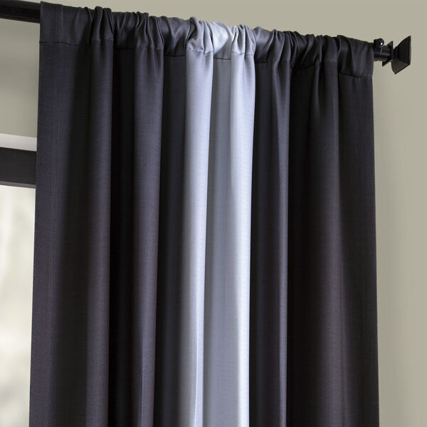 Grey 108 x 50-Inch Polyester Blackout Curtain Single Panel, image 3