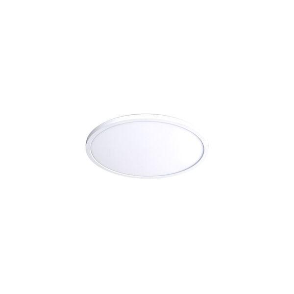 White 7-Inch 3500K LED ADA Round Flush Mount, image 1