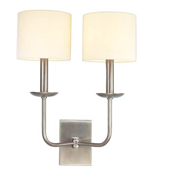 Kings Point Antique Nickel Two-Light Wall Sconce, image 1