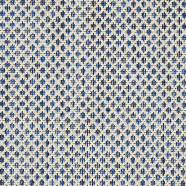 Courtyard Ivory and Blue 6 Ft. x 9 Ft. Rectangle Indoor/Outdoor Area Rug, image 6