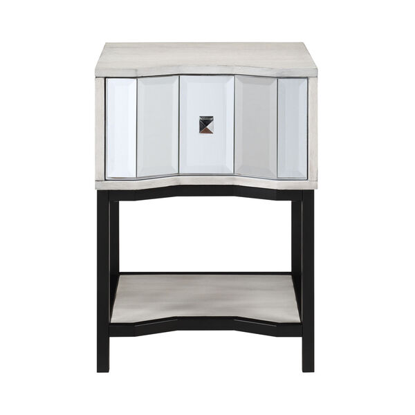 Gabby White Black End Table, image 2