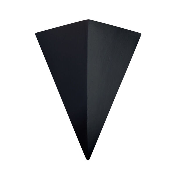 Ambiance Carbon Matte Black 20-Inch Two-Light Triangle LED Outdoor Wall Sconce, image 1