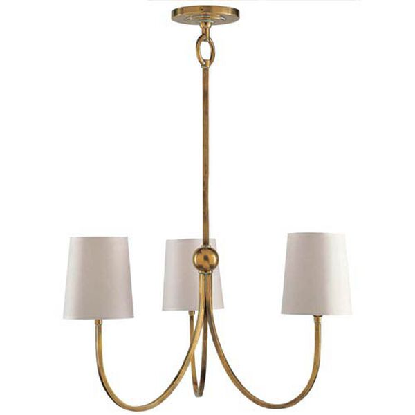 Antique Brass Reed Small Chandelier, image 1