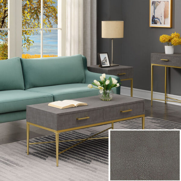 Gray and Gold 18-Inch Ashley Coffee Table, image 2