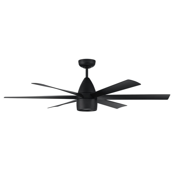 Quirk Flat Black 54-Inch LED Ceiling Fan, image 1