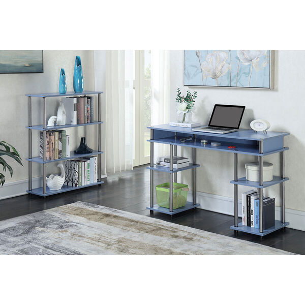 Designs2Go Blue No Tools Student Desk, image 4
