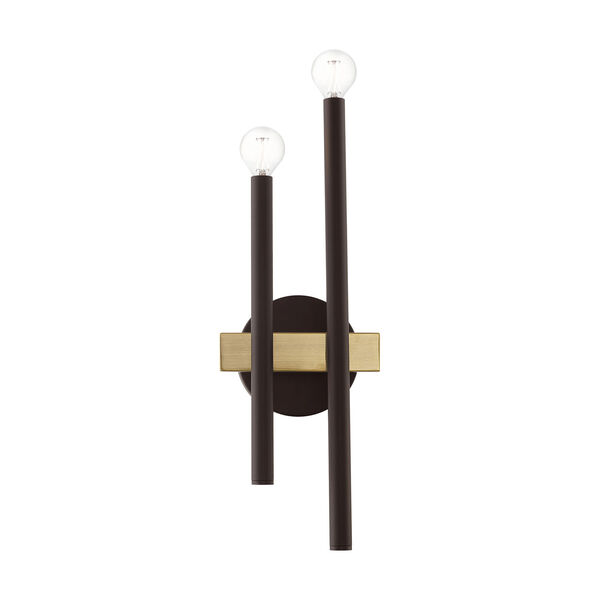 Denmark Bronze and Antique Brass Four-Light  Wall Sconce, image 5