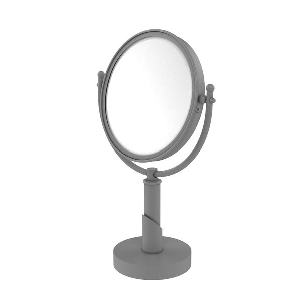 Soho Matte Gray Eight-Inch Vanity Top Make-Up Mirror 3X Magnification, image 1