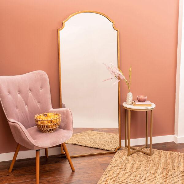 Saxton Gold 70-Inch Floor Mirror, image 1