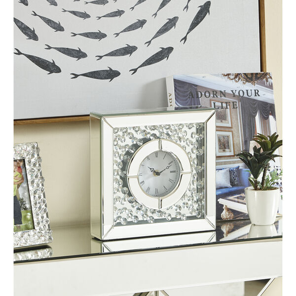 Sparkle Crystal 10-Inch Square Table clock, image 5