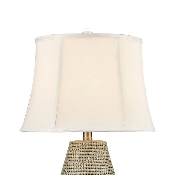Port Lewick Gray Silver Grey Galze Clear Crystal One-Light Table Lamp, image 3