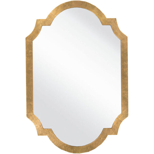 Franklin Aged Gold Decorative Arched and Crowned Mirror, image 1
