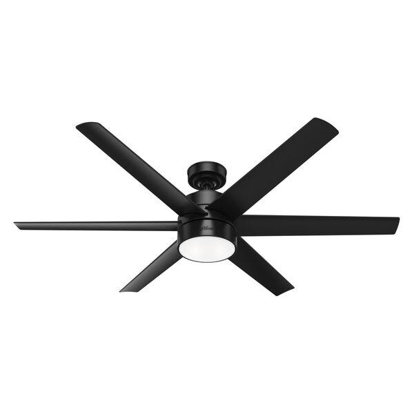 Solaria Matte Black 60-Inch LED Ceiling Fan, image 1