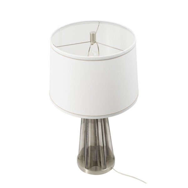 Smoke and SIlver One-Light Table Lamp, image 3