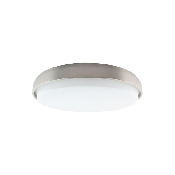 Lithium Brushed Nickel 19-Inch LED EM Backup Battery Flush Mount, image 2