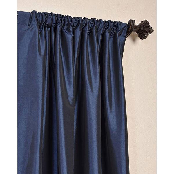 Navy Blue 84 x 50-Inch Blackout Faux Silk Taffeta Curtain Single Panel, image 3