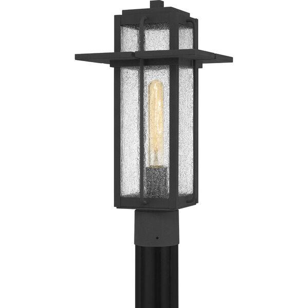Randall Mottled Black One-Light Outdoor Post Mount, image 1