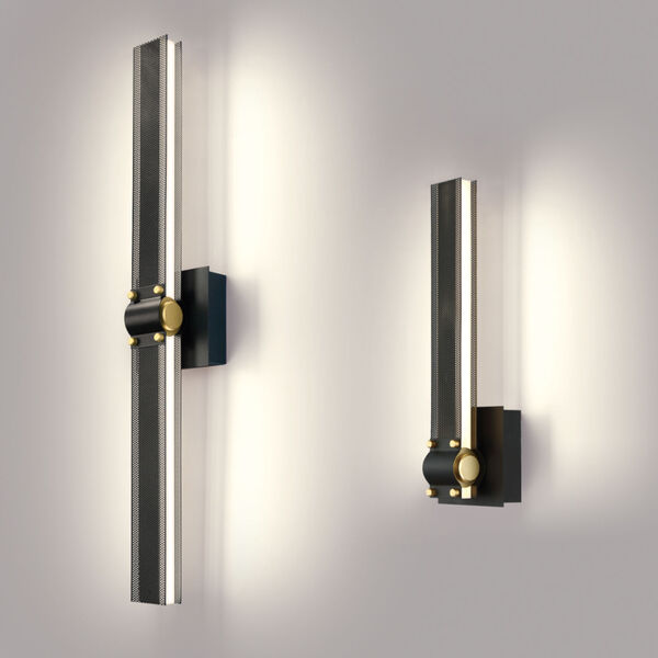 Admiral Matte Balck and Gold LED Wall Sconce, image 4