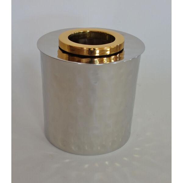 Nickel Gold Ring Round Tissue Box, image 1