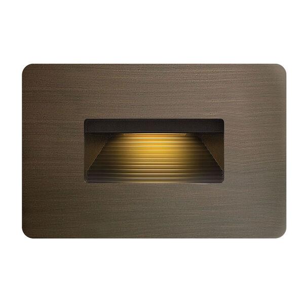 Luna Matte Bronze Line Voltage 4.5-Inch LED Landscape Deck Light, image 1
