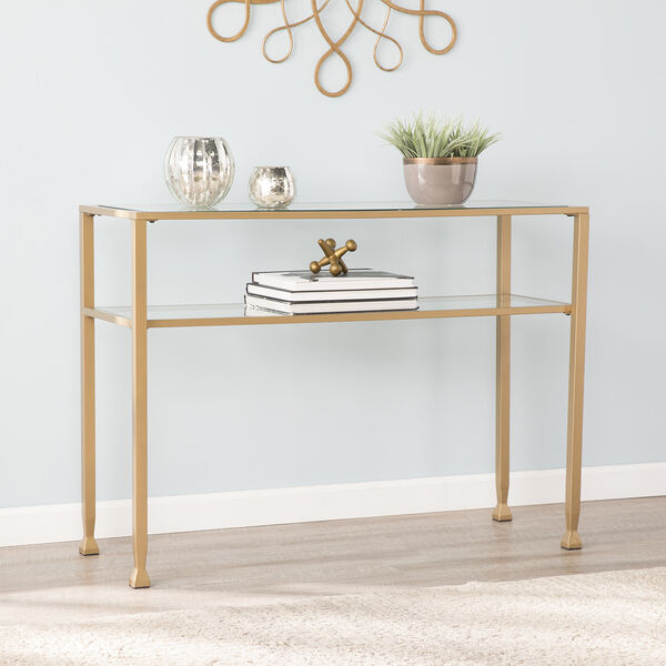 Jaymes Soft Gold 43-Inch Console Table, image 1