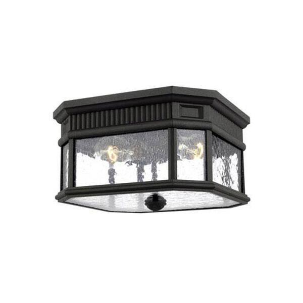 Castle Black 12-Inch Two-Light Outdoor Flush Mount, image 1