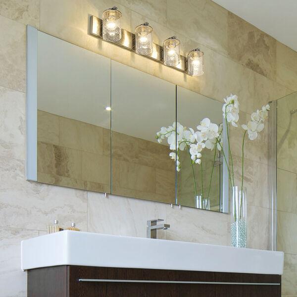 Beckett Brushed Nickel Four-Light Bath Vanity, image 2