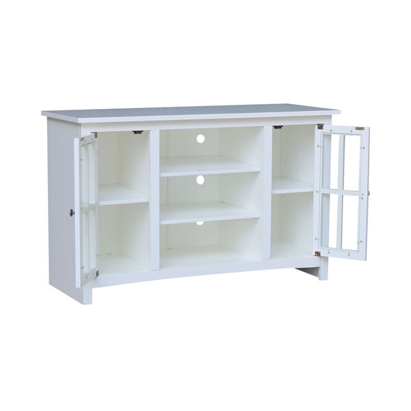 White 48-Inch TV Stand with Two Door, image 3