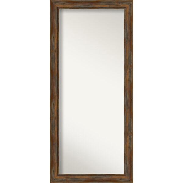 Alexandria Rustic Brown 30-Inch Floor Mirror, image 1