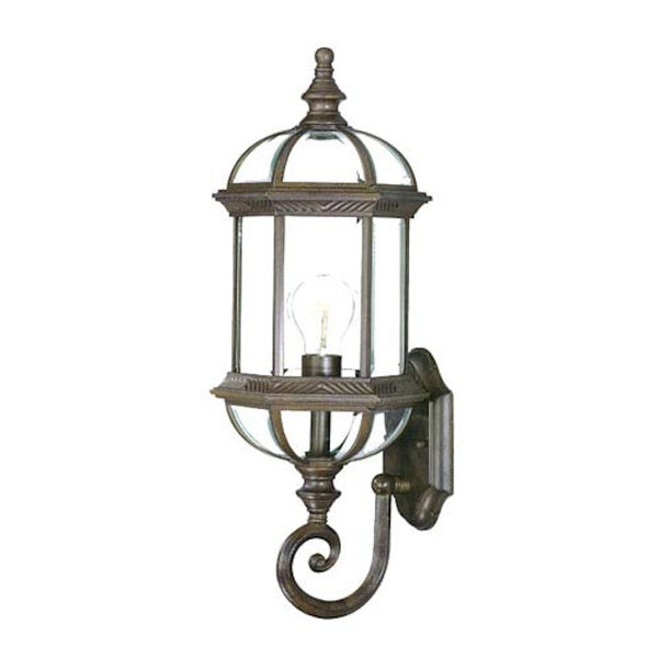 Dover Burled Walnut One-Light Wall Fixture, image 1