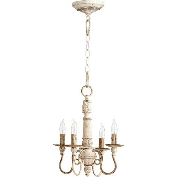 Bouverie French White 15-Inch Four-Light Chandelier, image 1