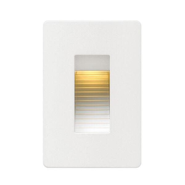 Luna Satin White Line Voltage 3-Inch LED Landscape Deck Light, image 1