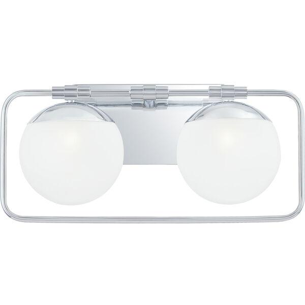 Padgett Polished Chrome Two-Light Bath Vanity, image 1