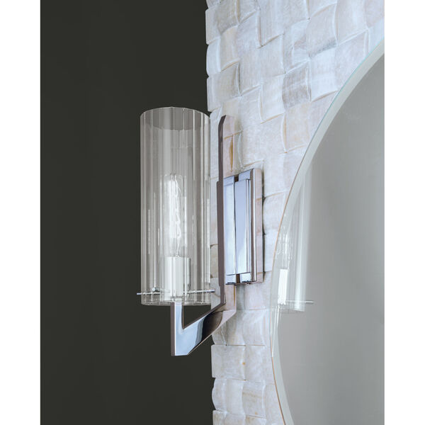 Faceted Chrome One-Light Wall Sconce, image 2